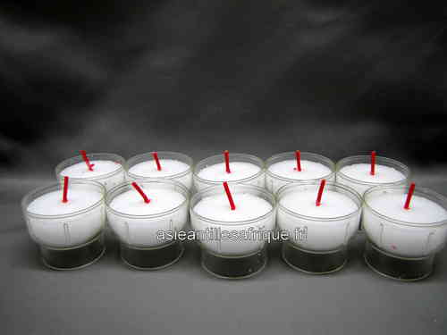 10 Veilleuses- Bougies votives blanches